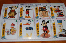 Disney Antique Toys Guyana 1996 Stamp Sheet MNH