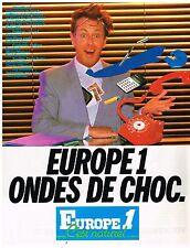 PUBLICITE ADVERTISING 054 1981  EUROPE 1 radio  ONDES DE CHOC