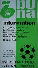 """Programma 1978/79 BSG Chemie Buna Schkopau-Chemie Wolfen"""""""