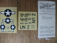 1/72 ABT DECAL N°110 USAAF THUNDERBOLT P 47D 56th FS COLONEL HUBERT ZEMKES 1945
