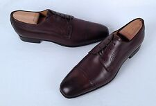 Santoni Cap Toe Oxford- Brown Calf- Size 7 D  $625 (C1)