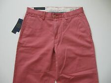 POLO RALPH LAUREN Men's Classic-Fit Washed Red Flat Front Chino Pant 33x30