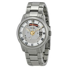 Fossil Grant Skeleton Dial Stainless Steel Bracelet Unisex Watch FS4871