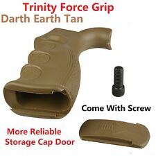Trinity Force Rear Grip Finger Groove Reliable Storage Door Dark Earth Tan Screw