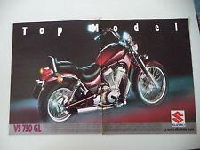 advertising Pubblicità 1987 MOTO SUZUKI VS 750 GL INTRUDER