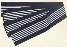 New Navy Blue Men's Cotton Tanzen Obi for Yukata Kimono Made in Japan