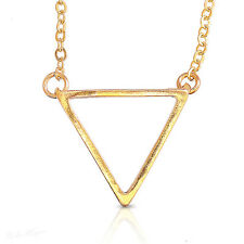 Triangle Gold Filled 14k Necklace Geometric Pendant Frame Charm & Chain Warranty
