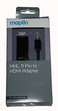 MAPLIN  MHL 2.0 11 Pin to HDMI Adapter for MANY SmartPhone & Tablets -RRP=£19.99