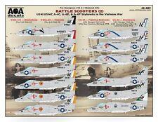 AOA decals 1/48 BATTLE SCOOTERS 2 A-4C, A-4E, & A-4F Skyhawks in the Vietnam War