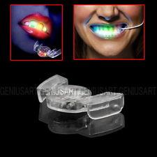 Denti Luminosi Bocca Lampeggiante 4 Colori Festa Dicoteca Rave Party Dentiera