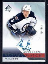 2015-16 SP Authentic Andrew Copp Future Watch Auto Rookie card  #d999