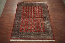 8X11 Pak Bukhara Hand-Knotted Wool Area Rug 1990's Oriental Carpet (8.2 x 10.6)