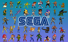 A3 Poster - SEGA Retro Gaming Characters (Picture Print Game Art Sonic Megaman)