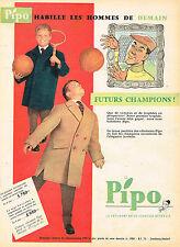 PUBLICITE ADVERTISING 025  1958  PIPO   manteaux enfants  futurs champions