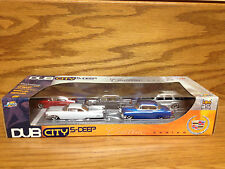 2004 Jada DUB CITY 5-DEEP CADILLAC SERIES SET **5 different Cadillac's