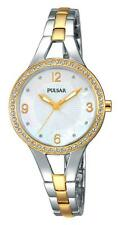 Women's Pulsar Watch PH8120 By Seiko 52 Swarovski Crystal Stainless Steel 2 Tone