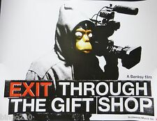 EXIT THROUGH THE GIFT SHOP ORIGINAL 2010 CINEMA QUAD POSTER BANKSY MR BRAINWASH