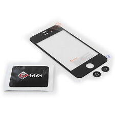 GGS 0.5mm Self-Adhesive Glass LCD Screen Protector for Apple iPhone 4/4S Black