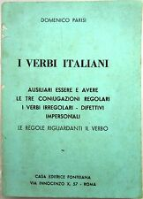 X 0109 VOLUMETTO I VERBI ITALIANI DI DOMENICO PARISI 1975