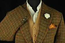 "Vtg Harris Tweed Houndstooth Country Tailored Hacking Jacket 44"" #636 PRISTINE"