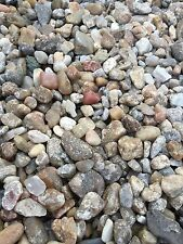 30 lbs multi colored Natural River Rocks Gravel Stones pebbles (Free Shipping)