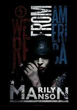 "MARILYN MANSON FLAGGE / FAHNE ""WE'RE FROM AMERICA"" POSTERFLAGGE POSTER FLAG"