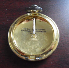 Franklin Mint Gold Tone Metal Pocket Watch Sample Case LOOK