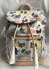 Disney Dooney & and Bourke Nylon Sketch Print Backpack Bag Balloons Castle A