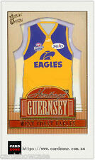 2004 Select AFL Ovation Heritage Guernsey Picture Card HJ15 West Coast