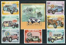 Kampuchea - Beautiful  MNH Set Classic Cars + SS...Scott 518-525..........A 6504