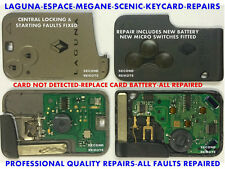Repair Fix - Service - Renault Key Cards - Laguna, Megane, Espace, Scenic Fixed