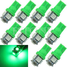 10X T10 Green 5050 SMD 5-LED 194 168 W5W Wedge Light Bulb XENON Car Tail Lamp