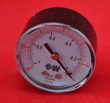 "2"" 50mm back connect vacuum pressure gauge -0.1 Mpa -76cmHg manometer ,NPT 1/4"""
