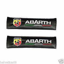 for Abarth car seat belt shoulder pads covers set of 2 x pcs New