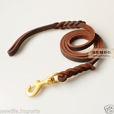 BENGO Handcrafted Leather Dog Leash 2m - Schutzhund K9 Training Police Guard