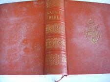 LA SAINTE BIBLE Chanoine Crampon 1961 - 88 planches couleurs 13 cartes