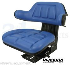 Blue Tractor Suspension Seat Ford/New Holland, Wrap Around Back With Arms