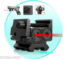 Mini Red Dot Laser Sight Detachable Picatinny Weaver Rail For Pistol Gun Glock *