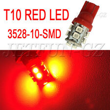 2X Red T10 W5W Wedge Side 10SMD LED Tail Brake Stop Light 168 192 194 906 12V