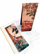 Set of 2 Magnetic Bookmark Chinese Ancient Painting Animal Sika Deers Great Gift