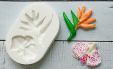 Silicone mould Tropical Flowers, Orchid, Bird of Paradise, Ellam Sugarcaft M216