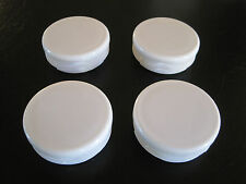 "2"" Round White Plastic Plug End Cap, 2 Inch Tube Pipe Post  Feet - 4 pack Endcap"
