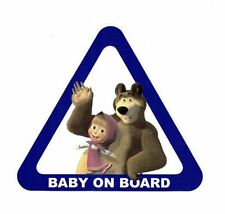 Baby on Board Masha and the Bear Sticker  Window Car, Truck, Vehicle