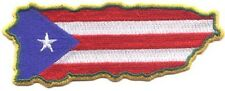 """Cheap Lot of 100  Puerto Rico Flag in Map Embroidered Patches 4.75""""x1.8"""""""