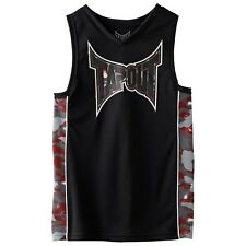 Tapout UFC Boys Sleeveless T-shirt Size Large (14/16) Black/Gray. 100% Polyster