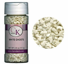 White Ghosts Halloween Edible Confetti Sprinkles 2.6 oz from CK  #11307 - NEW