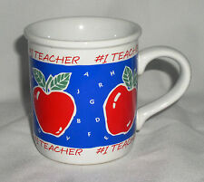 Mug  # 1 Teacher Coffee Cup Stoneware Carlton Cards Number 1