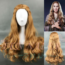 Game of Thrones Cersei Lannister Long Wavy Curly Brown Full Anime Cosplay Wigs