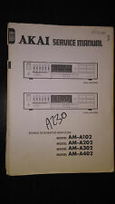 Akai am-a102 a202 a302 a402 service manual original stereo amp amplifier