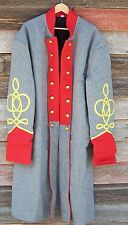 civil war confederate artillery frock coat with 3 row braids 46